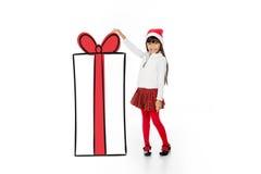 Grazie il Babbo Natale per questo presente Immagine Stock
