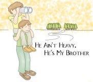 Grazie il mio più caro fratello Card Illustration Fotografia Stock Libera da Diritti