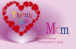 Grazie mamma, il giorno di madri felice Immagini Stock