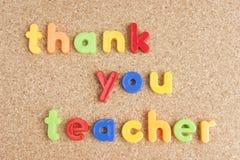 Grazie messaggio dell'insegnante a bordo Immagini Stock Libere da Diritti