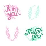 Grazie passare i segni indicati da lettere con oliva Immagini Stock Libere da Diritti