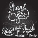 'grazie' passare l'iscrizione - calligrafia fatta a mano Fotografie Stock Libere da Diritti
