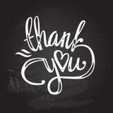 'grazie' passare l'iscrizione - calligrafia fatta a mano Immagini Stock