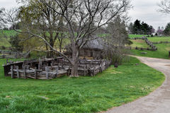 Grazing Fields, Horse Barn and Peg Pen on the Grounds Booker T. Washington National Monument Royalty Free Stock Image
