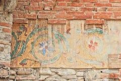 Grazzano威士康蒂,中世纪村庄在意大利北部 图库摄影