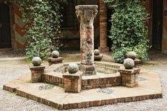 Grazzano威士康蒂,中世纪村庄在意大利北部 库存图片