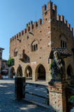 Grazzano Visconti城镇厅 库存图片