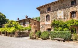 Grazzano Visconti村庄在意大利 库存图片