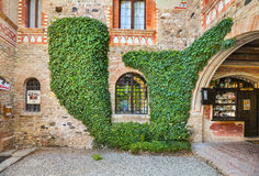 Grazzano Visconti村庄在意大利 库存照片