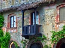 Grazzano Visconti balkony Royalty Free Stock Photos