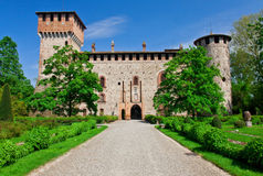 Grazzano visconti castle Royalty Free Stock Photos