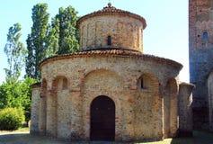 Grazzano Visconti, een middeleeuws dorp in noordelijk Italië Stock Foto