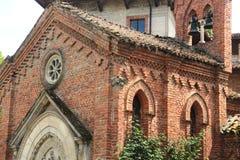 Grazzano Visconti, een middeleeuws dorp in noordelijk Italië Royalty-vrije Stock Foto