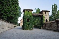 Grazzano Visconti. Emilia-Romagna. Włochy. zdjęcie stock