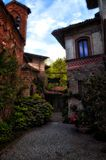 Tourist destination in northern Italy, Grazzano Visconti Royalty Free Stock Images