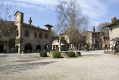 Grazzano Visconti - medieval village in Province of Piacenza, Italy Stock Photos
