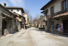 Grazzano Visconti - medieval village in Province of Piacenza, Italy royalty free stock photos