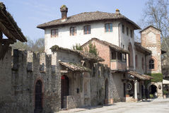 Grazzano Visconti - medieval village in Province of Piacenza, Italy Stock Image