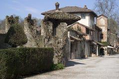 Grazzano Visconti - medieval village in Province of Piacenza, Italy stock photos