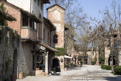 Grazzano Visconti - medieval village in Province of Piacenza, Italy Stock Photo