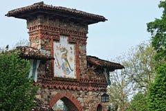 Grazzano Visconti, un villaggio medievale in Italia del Nord fotografie stock libere da diritti