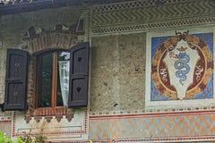 Grazzano Visconti, un villaggio medievale in Italia del Nord immagine stock