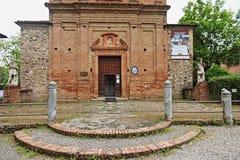 Grazzano Visconti, un villaggio medievale in Italia del Nord fotografie stock