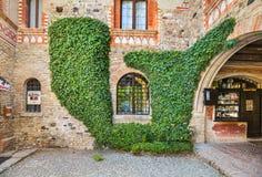 Grazzano Visconti village in Italy. Stock Photos