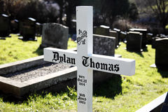 Grób Dylan Thomas Obrazy Royalty Free