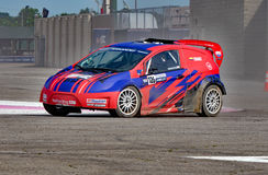 Grc 009. Louisville, Kentucky – May 20, 2017: Alejandro Fernandez races at the Red Bull Global Rallycross in Louisville, Kentucky, on May 20, 2017 royalty free stock photography