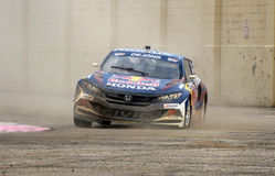 Grc 013. Louisville, Kentucky – May 20, 2017: Mitchell deJong races at the Red Bull Global Rallycross in Louisville, Kentucky, on May 20, 2017 royalty free stock images