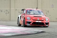 Grc 009. Louisville, Kentucky – May 20, 2017: Scott Speed races at the Red Bull Global Rallycross in Louisville, Kentucky, on May 20, 2017 stock photography