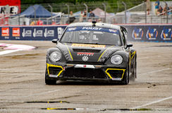 Grc 203. Louisville, Kentucky – May 21, 2017: Tanner Foust races at the Red Bull Global Rallycross in Louisville, Kentucky, on May 21, 2017 royalty free stock photos