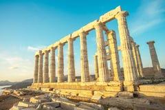 GRE Attica Sounio Poseidon-Tempel durch petinaki stockfotografie