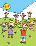 Grüße von den Kindern Lizenzfreies Stockbild