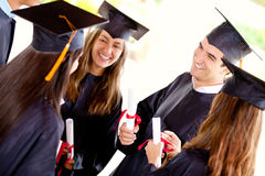 Greaduation students Stock Image