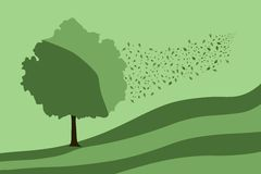 Grean Baum stock abbildung