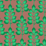 Grean Leaf Pattern. Vector seamless pattern background texture with many green leaves Stock Image