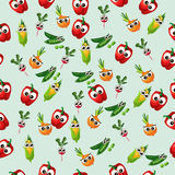 Grean peas pod. Very high quality original trendy vector seamless pattern with green peas pods and other vegetables Royalty Free Stock Images