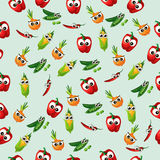 Grean peas pod. Very high quality original trendy vector seamless pattern with green peas pods and other vegetables Stock Photography