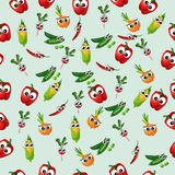 Grean peas pod. Very high quality original trendy vector seamless pattern with green peas pods and other vegetables Stock Photos