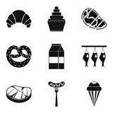 Grease icons set, simple style Stock Images