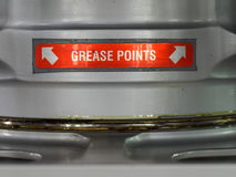 Grease points label Stock Images