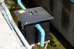 Grease Tank. Outdoor grease trap tank, outside a restaurant Royalty Free Stock Images