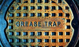 Grease Trap Man Hole Cover royalty free stock photos