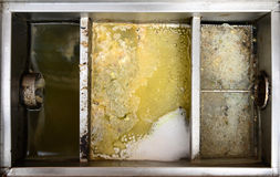 Grease traps box. Stainless steel grease traps box royalty free stock photography