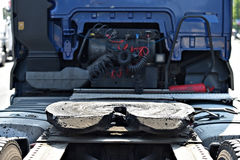 Greased truck coupling mechanism Royalty Free Stock Photography