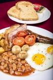 Greasy British Breakfast Royalty Free Stock Photo
