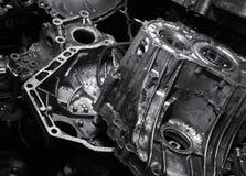 greasy gammalt för motor arkivfoto