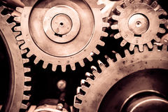 Greasy gears in the machine. Royalty Free Stock Photography